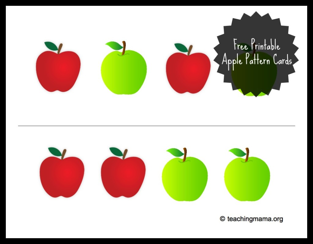 photograph regarding Apple Pattern Printable named Apple Sensory Bin With Free of charge Printable - Coaching Mama
