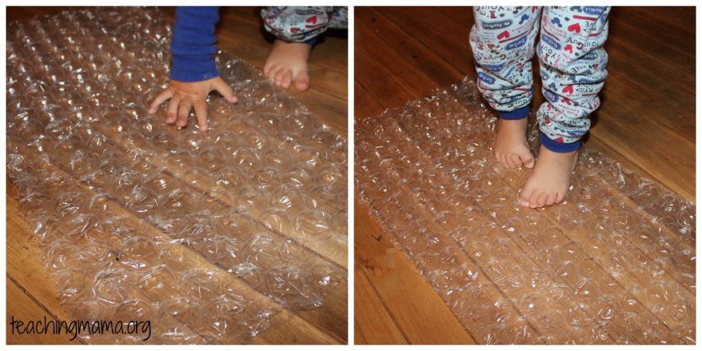 bubble wrap fun!