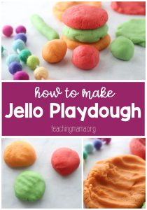 How to Make Jello Playdough - Teaching Mama