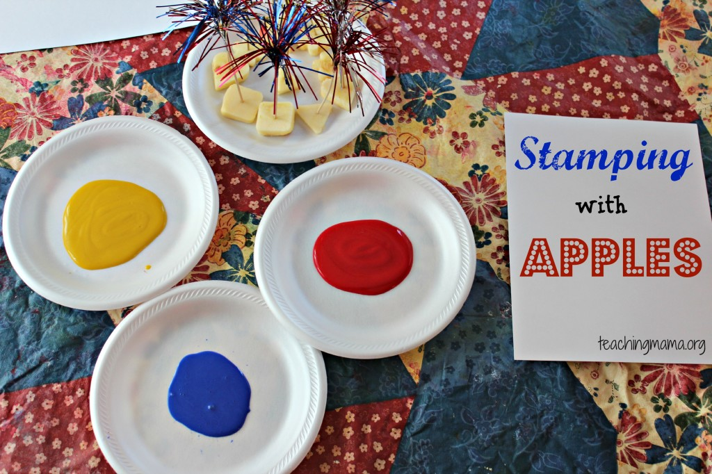 Stamping with Apples
