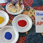 Toddler Tuesday: Stamping with Apples