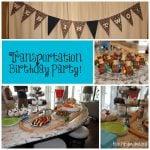 Transportation Birthday Party