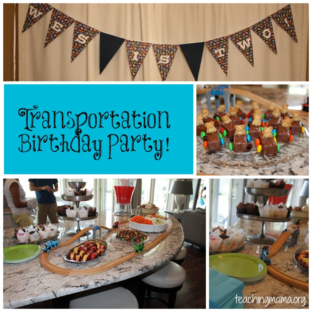 Transportation Birthday Party