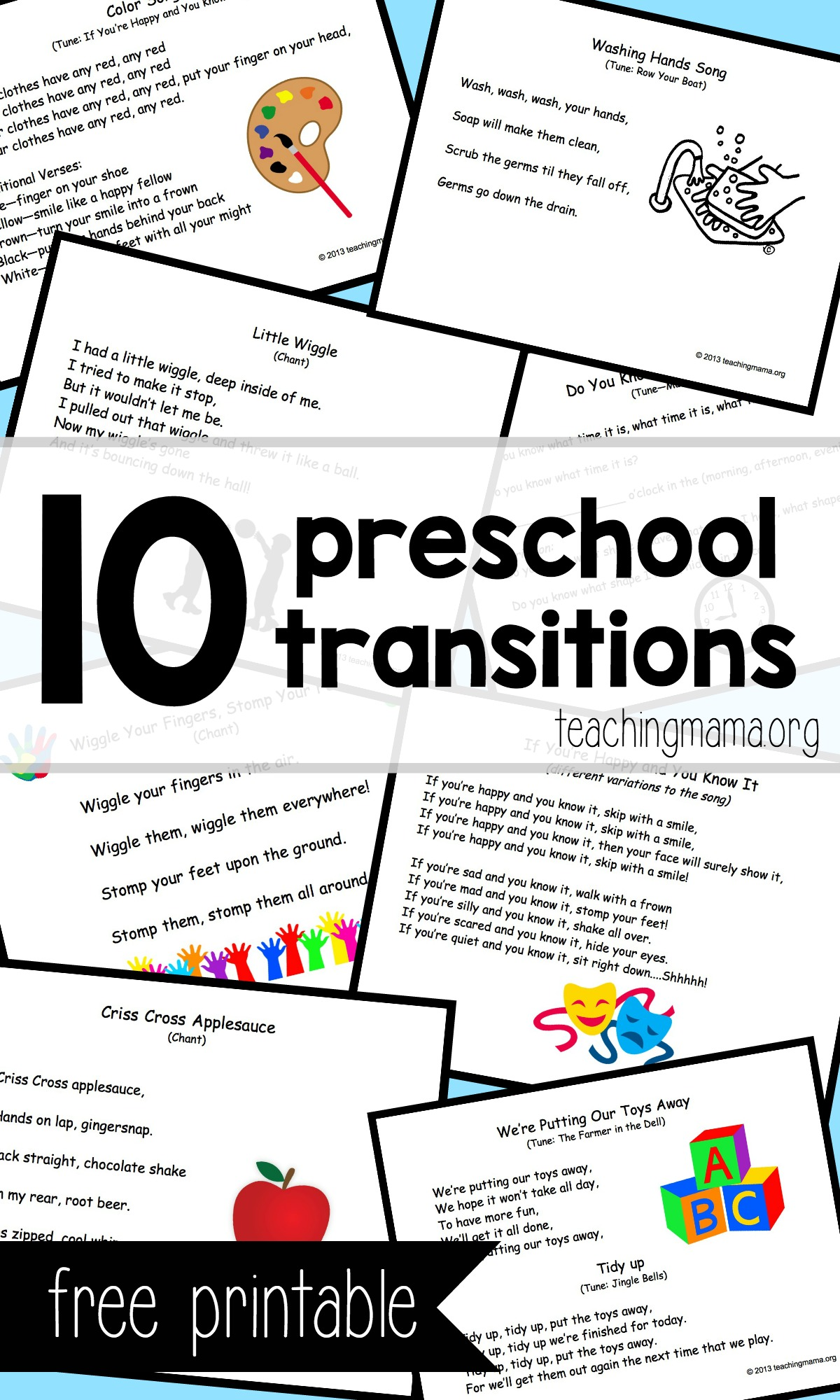 10 Preschool Transitions- Songs and Chants to Help Your Day Run