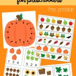 FREE Fall Math Packet for Preschoolers