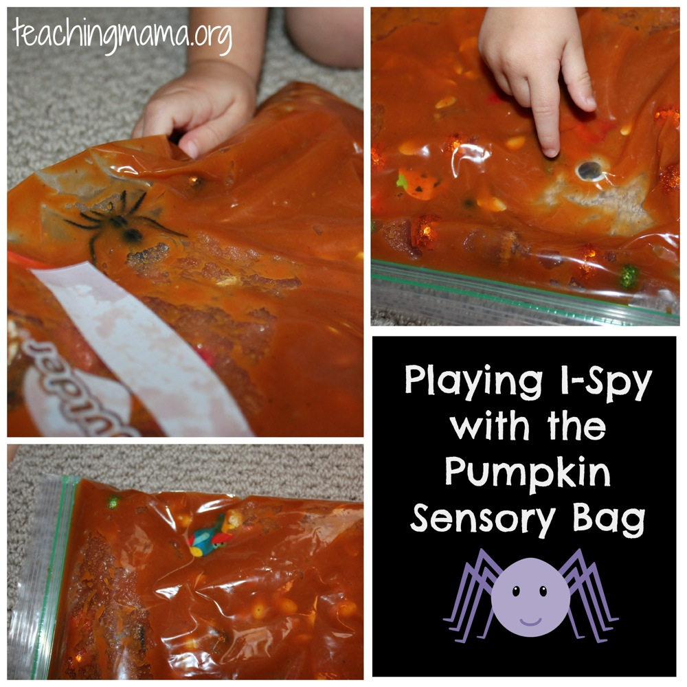 I-Spy Game with Pumpkin Sensory Bag
