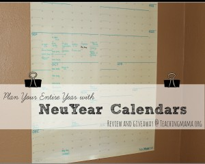 NeuYear Calendar {review and giveaway}