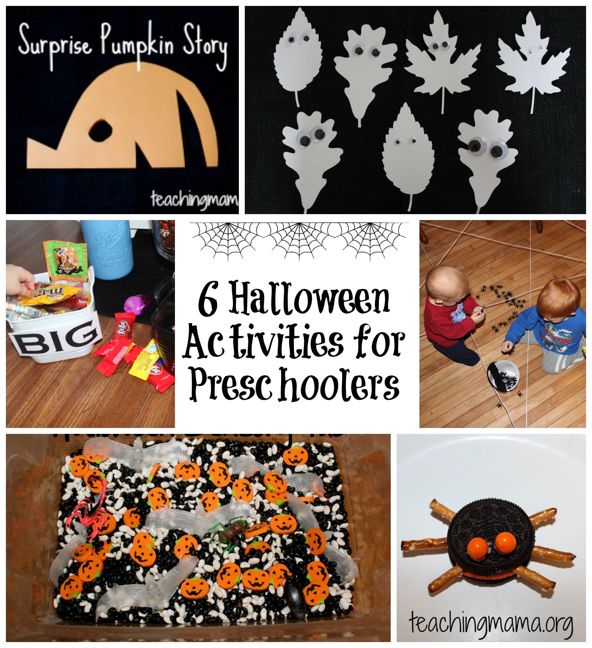 6 halloween activities for preschoolers for Halloween party games for preschoolers