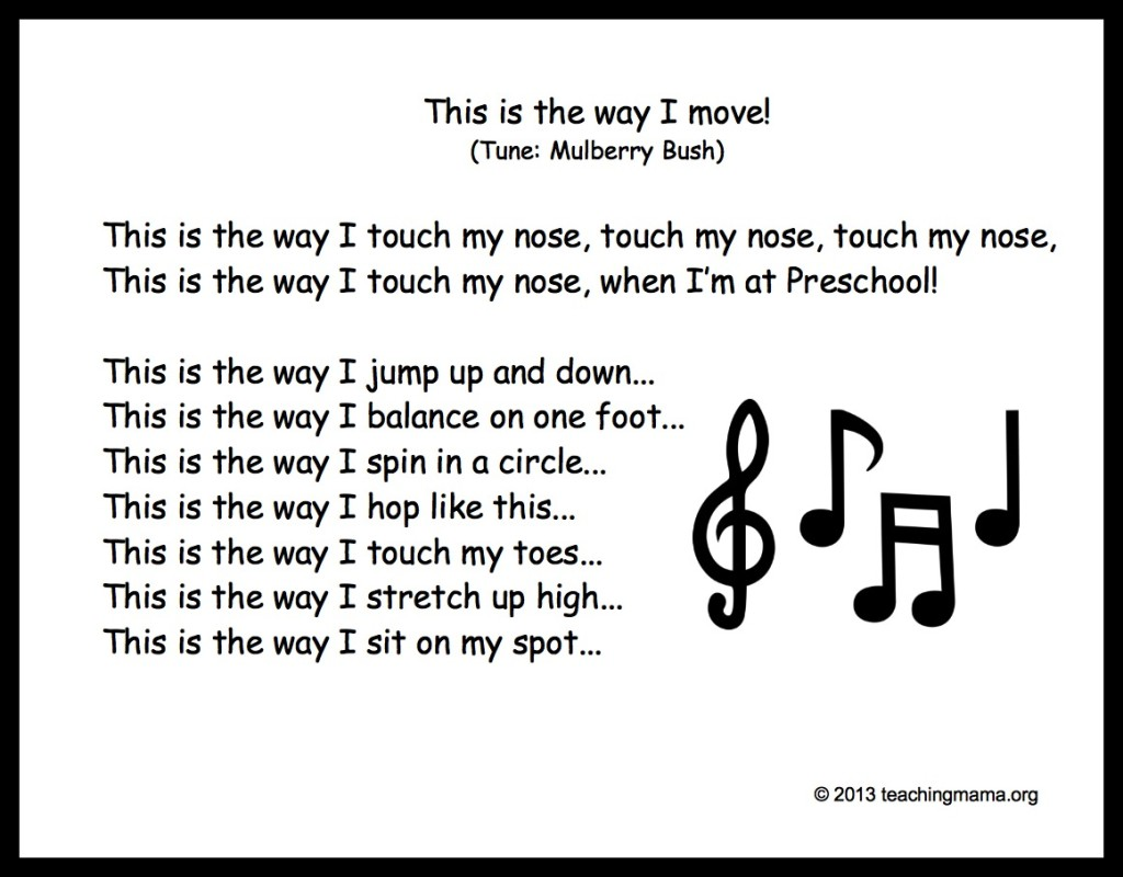 Preschool Transition Songs