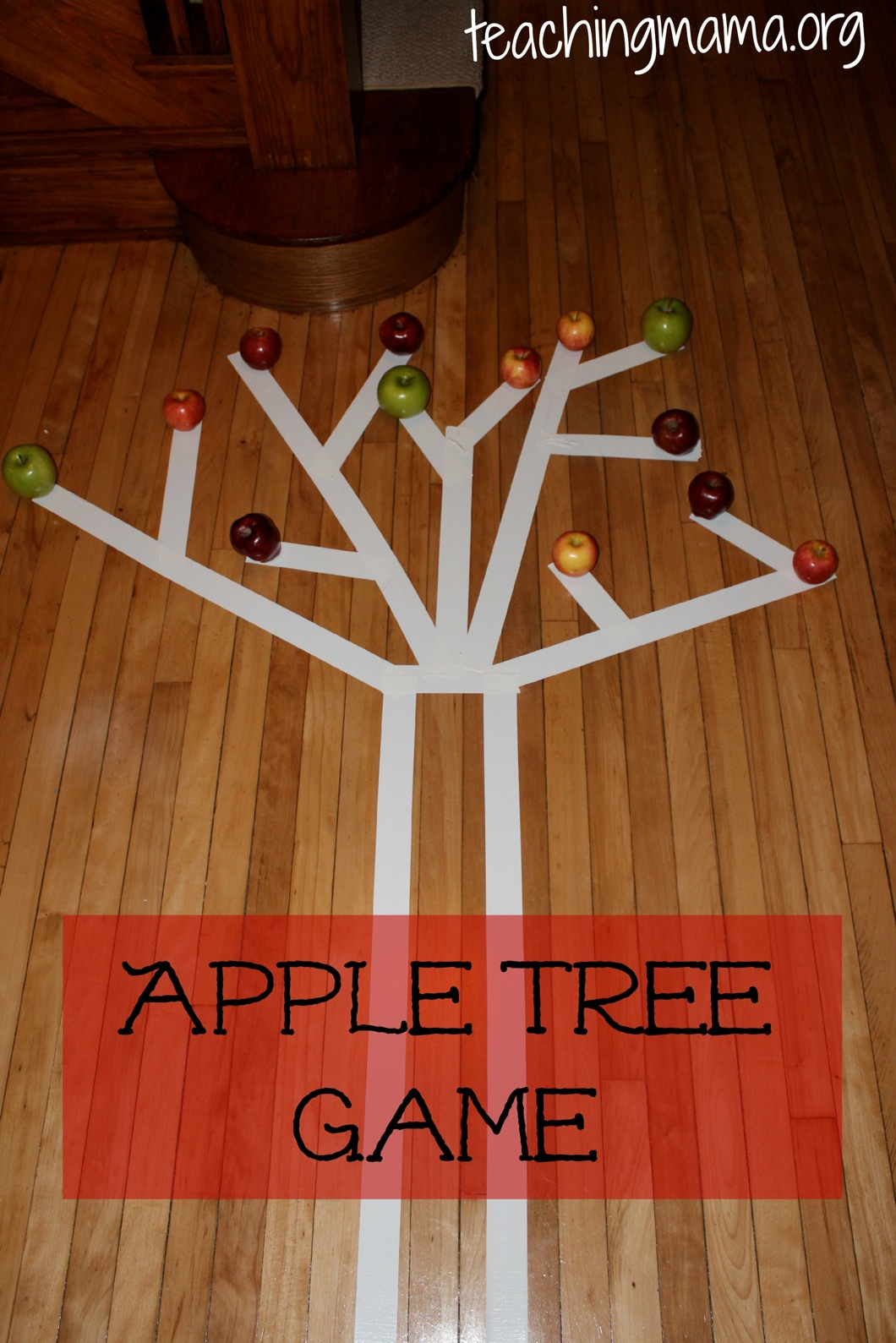 A is for apple activities for Indoor gross motor activities
