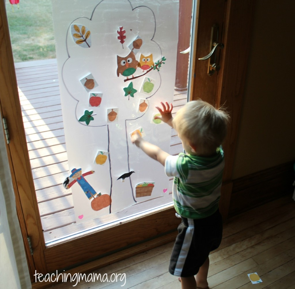 Toddler Tuesday Sticky Tree Activity