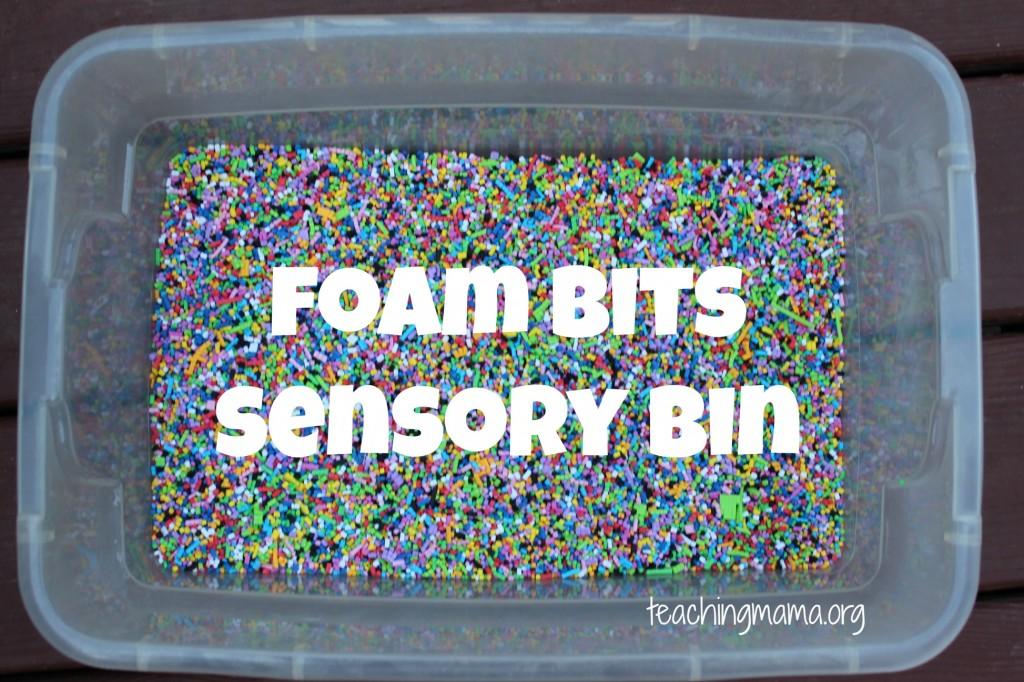 Foam Bits Sensory Bin