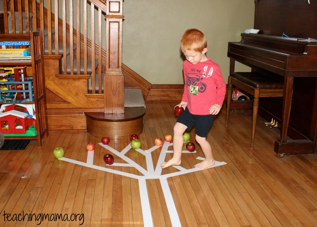 Apple Tree Game--great for working on gross motor skills!