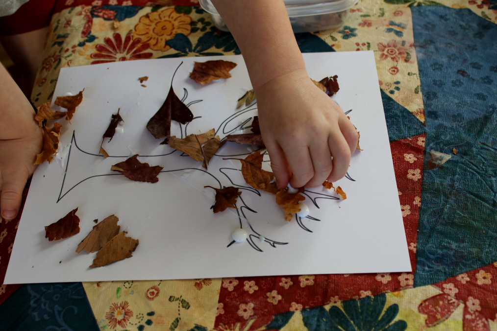 Image result for sensory play with tree leaves