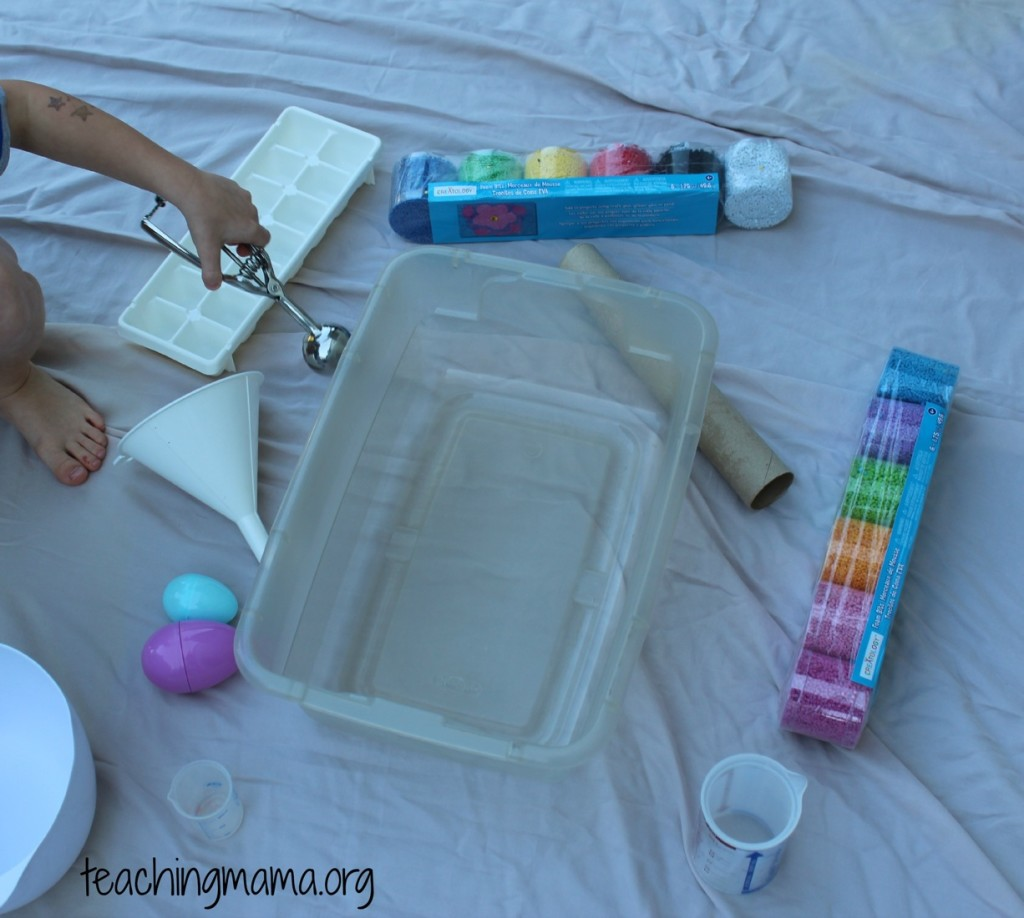 Invitation to Play with Foam Bits