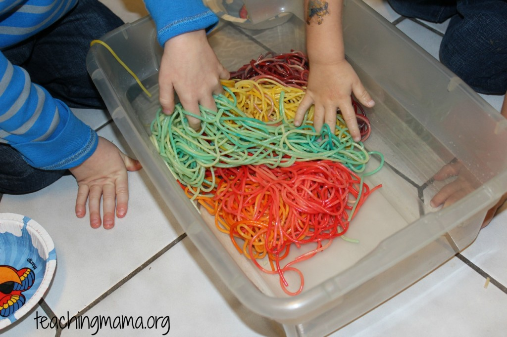 Rainbow Spaghetti Noodles