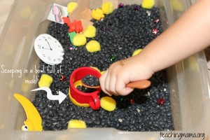 Toddler Tuesday: Goodnight Moon Sensory Bin