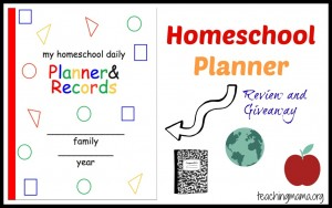 My Homeschool Daily Planner & Records {review and giveaway}