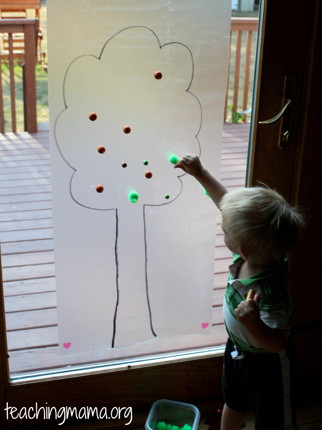 Toddler Tuesday Sticky Tree Activity Teaching Mama