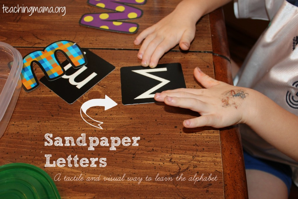 Learn the Alphabet with Sandpaper Letters