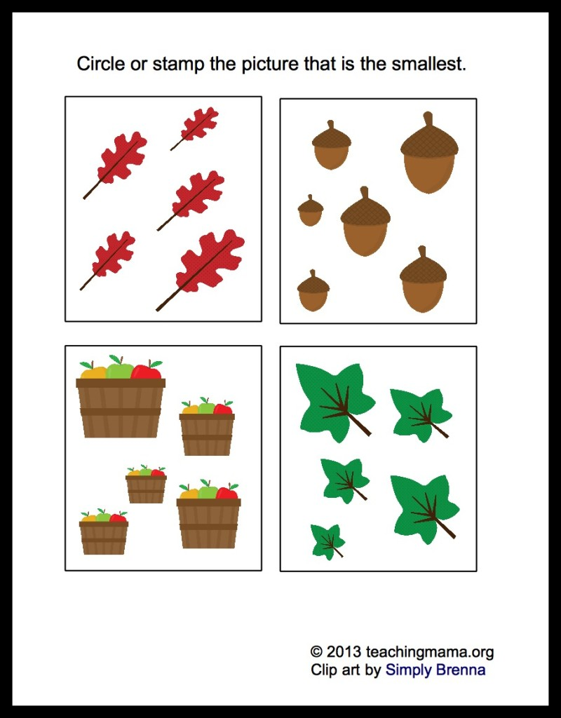 math worksheet : fall math packet for preschoolers : Preschool Math Worksheet