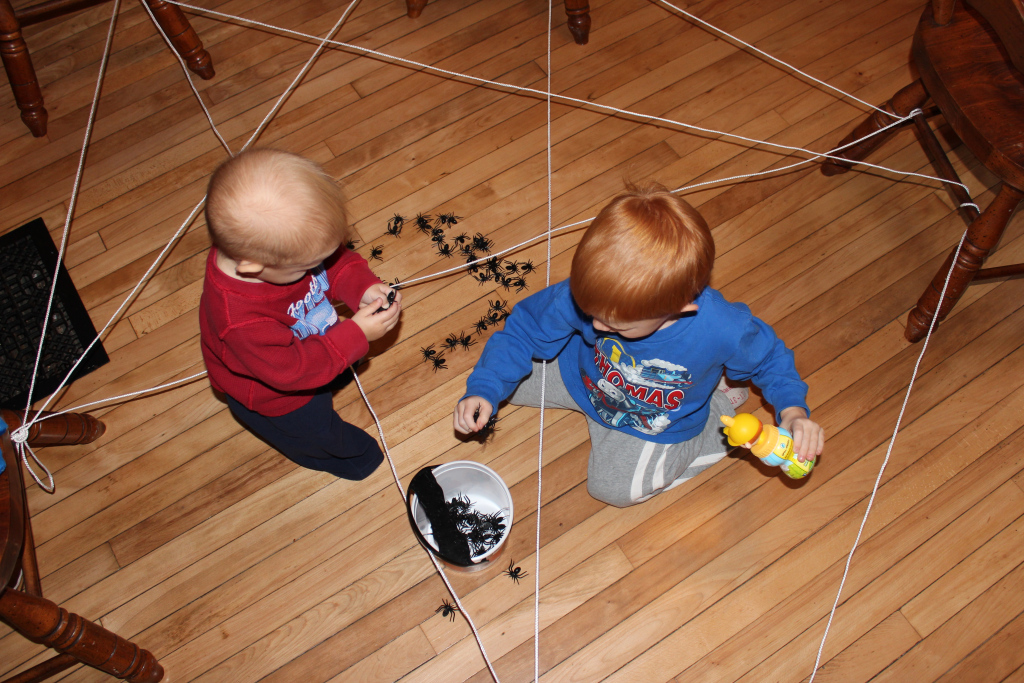 Interactive Spider Web