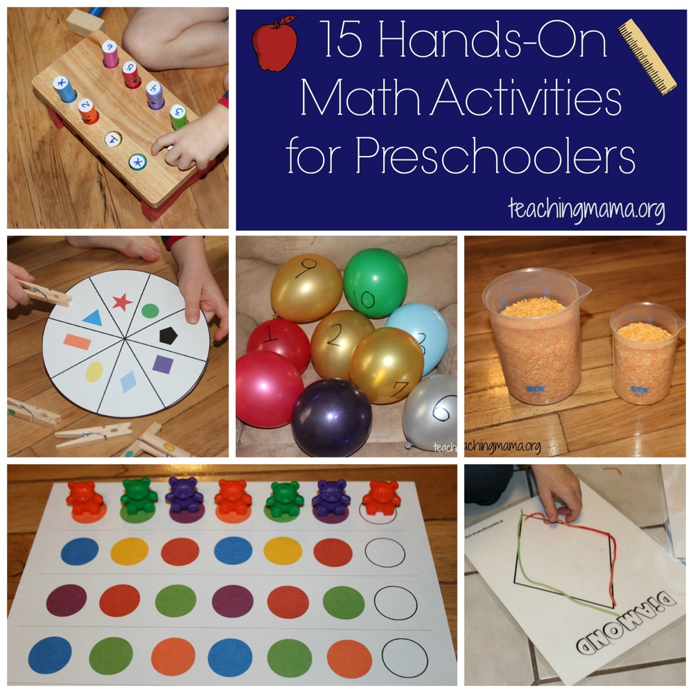 worksheet Math Activities For Kindergarten hands on math activities for preschoolers 15 preschoolers