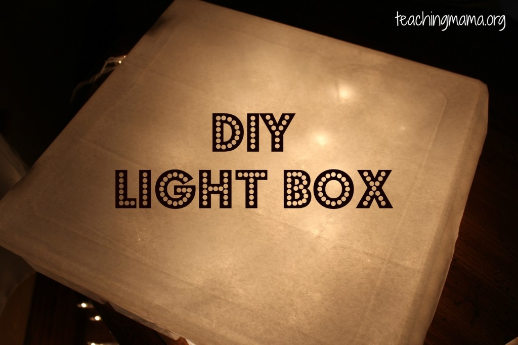 pumpkin decorating on a light box. Black Bedroom Furniture Sets. Home Design Ideas