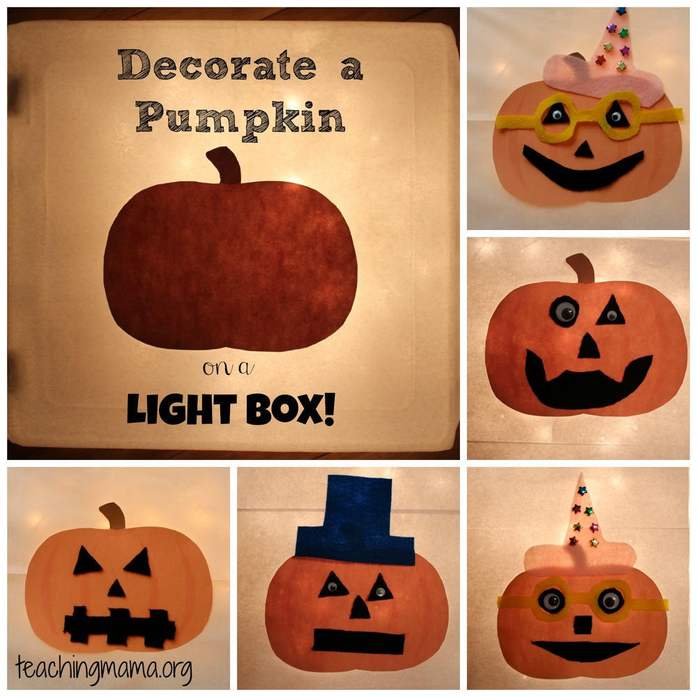 Decorate a Pumpkin on a Light Box