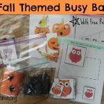 5 Fall Themed Busy Bags (Includes FREE Printables!)