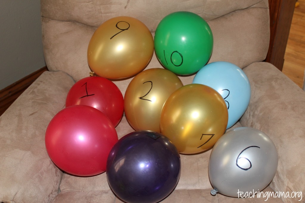 balloon number game