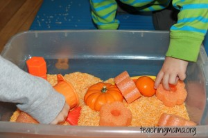 Toddler Tuesday: Orange Sensory Bin