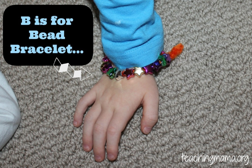 B is for Bead Bracelet