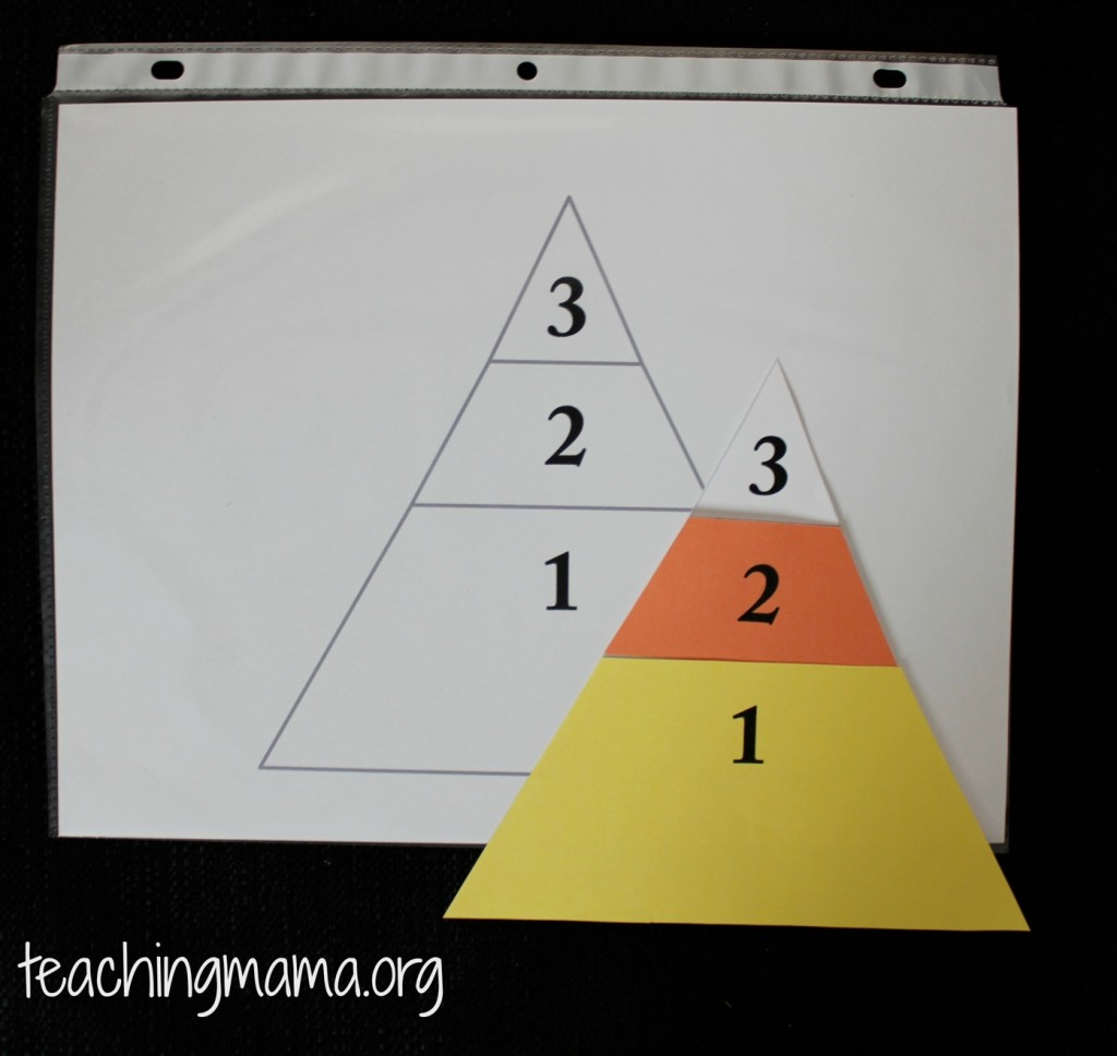 Candy Corn Game for Busy Bags