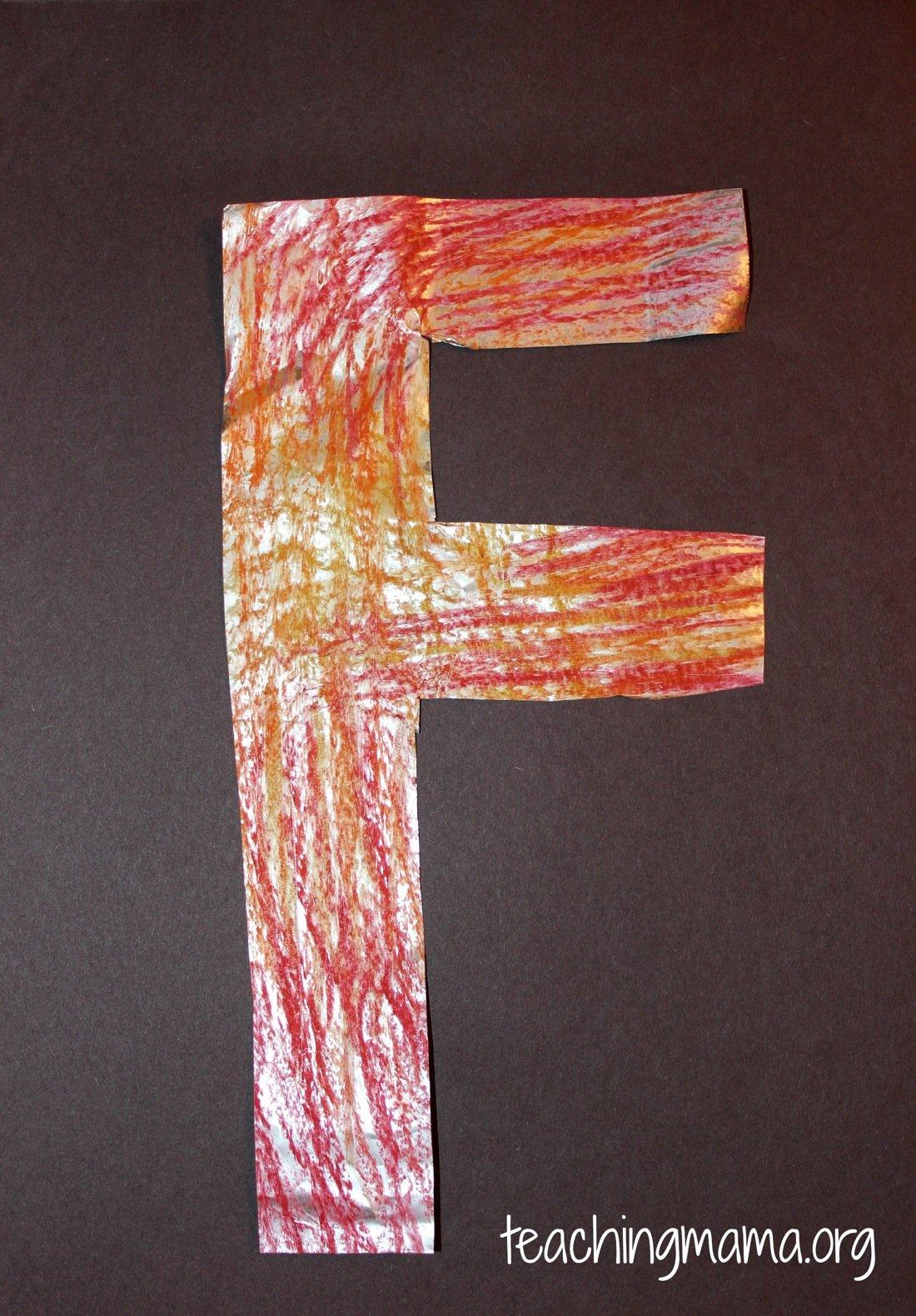 Tin Foil letter F