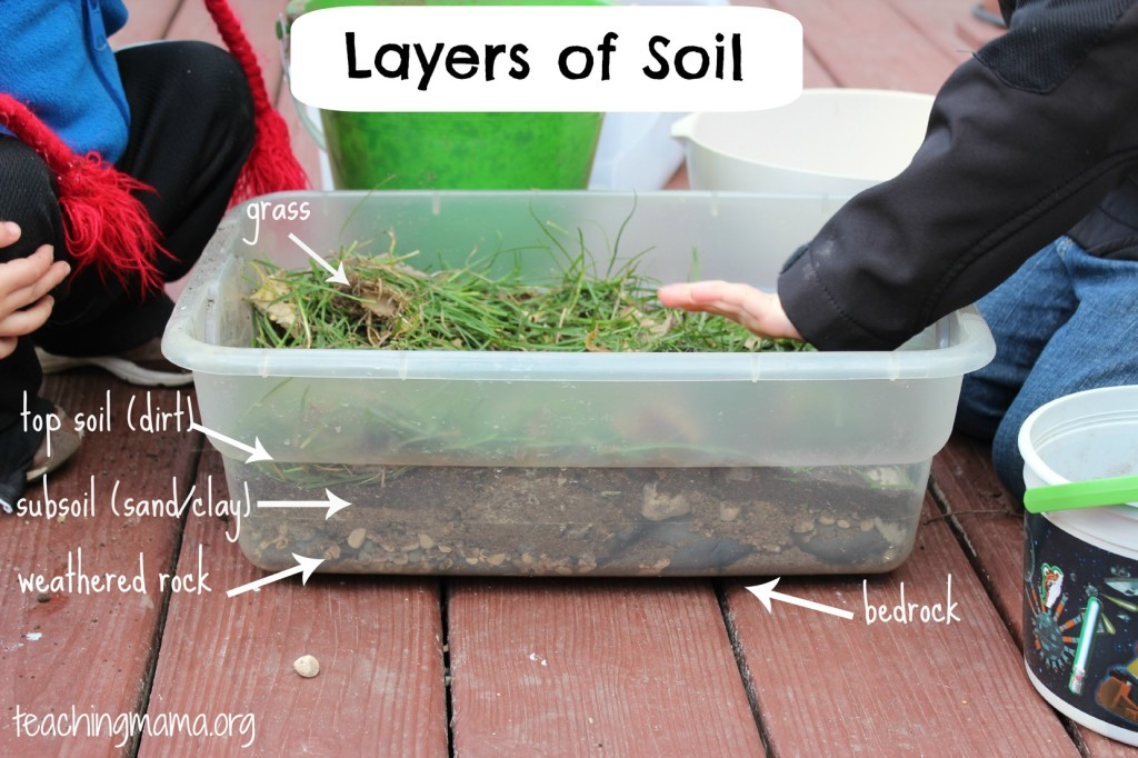 Model of the Layers of Soil