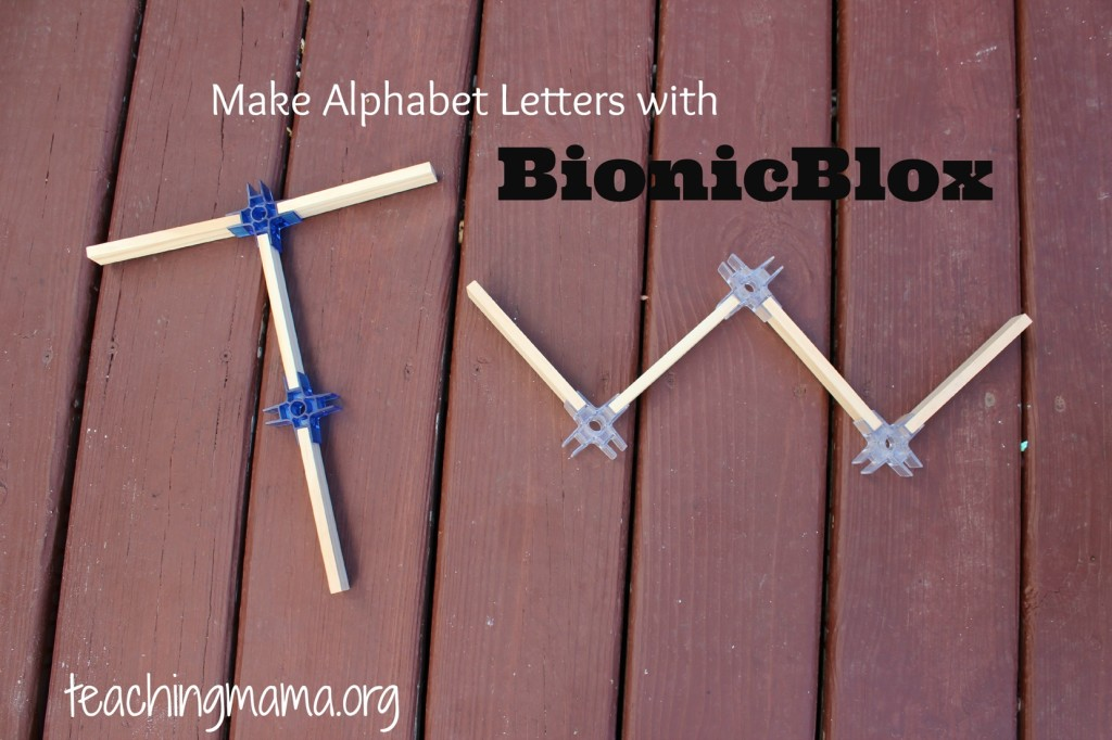Alphabet Letters with BionicBlox