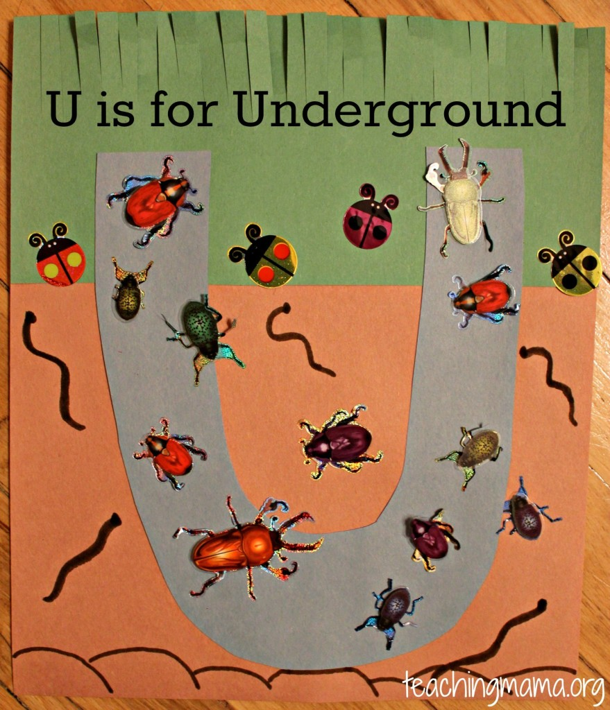 U Underground on Letter U Worksheets For Preschoolers