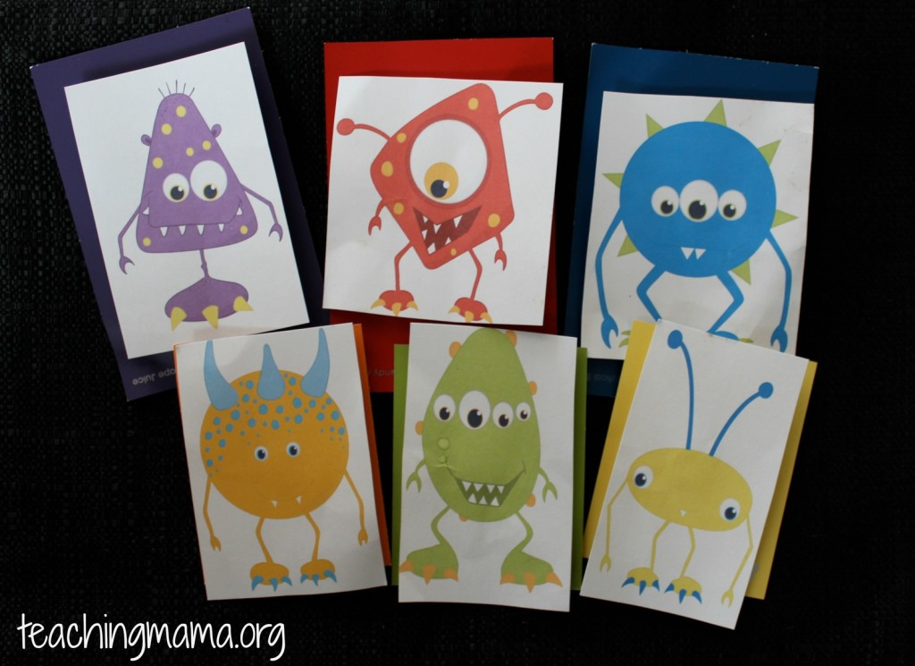 Monster Printable for Busy Bags