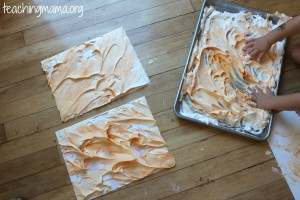 Pumpkin Craft for Toddlers (Using Shaving Cream!)