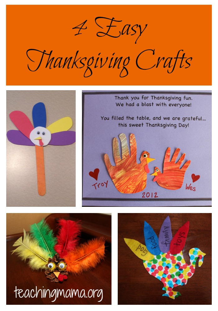 4 Easy Thanksgiving Crafts