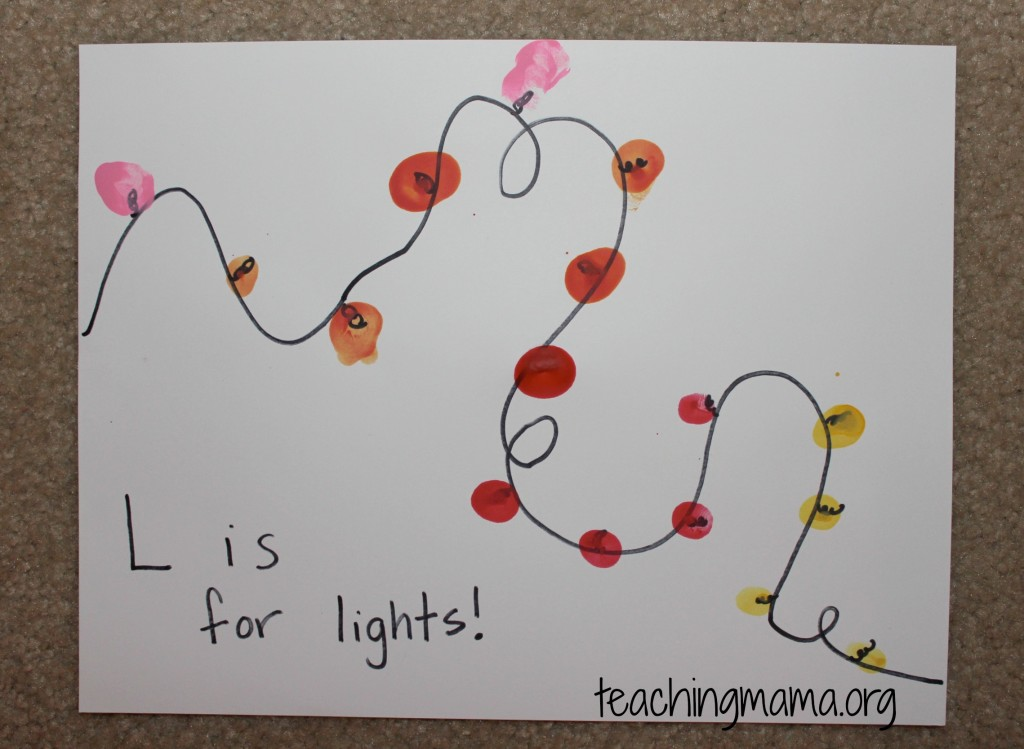L is for Lights Activity