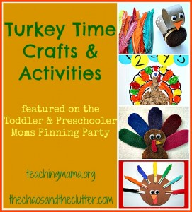 Turkey Time Crafts and Activities — and Pinning Party #12