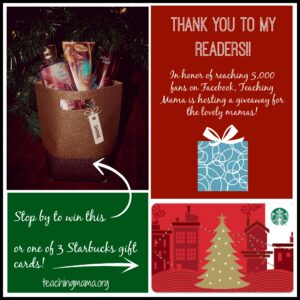 Thank You to My Readers!! {giveaway}