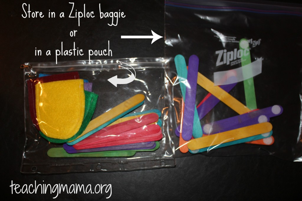 Storing Busy Bags