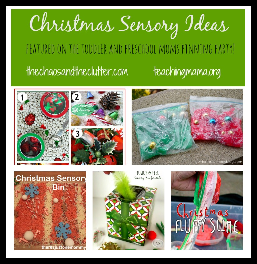 Christmas Sensory Ideas--Featured on the Toddler and Preschool Moms Pinning Party!