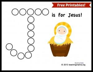 J is for Jesus (free printables!)