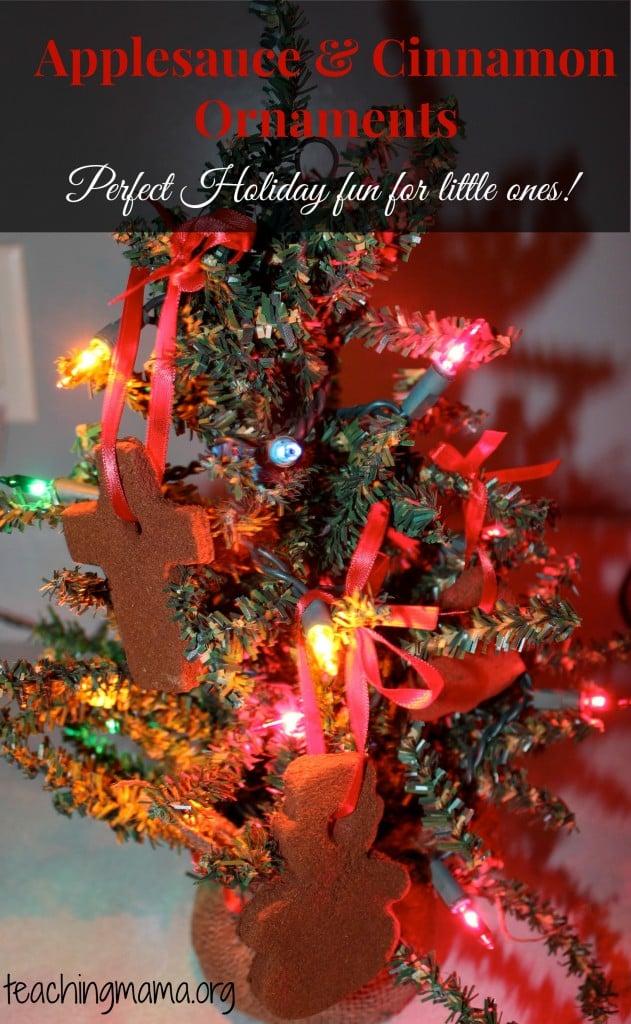 Applesauce and Cinnamon Ornaments