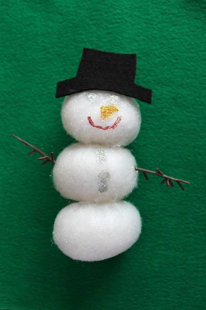 Puff Ball Snowman