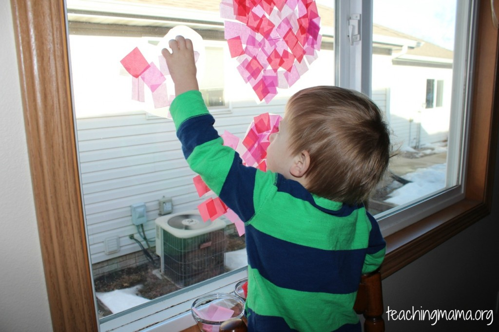 Making a Tissue Paper Heart